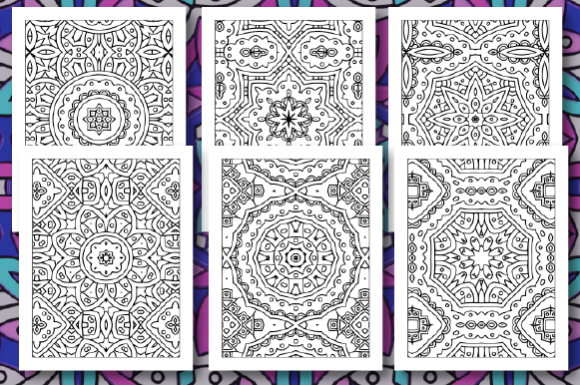 Print on Demand: 35 Geometric Pattern Coloring Pages Graphic Coloring Pages & Books Adults By JM_Graphics - Image 2