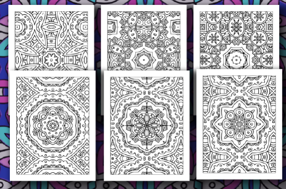 Print on Demand: 35 Geometric Pattern Coloring Pages Graphic Coloring Pages & Books Adults By JM_Graphics - Image 3
