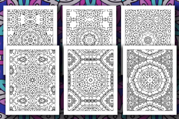 Print on Demand: 35 Geometric Pattern Coloring Pages Graphic Coloring Pages & Books Adults By JM_Graphics - Image 4