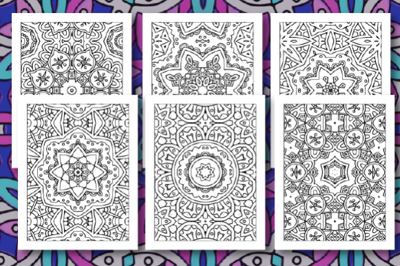 Print on Demand: 35 Geometric Pattern Coloring Pages Graphic Coloring Pages & Books Adults By JM_Graphics - Image 5