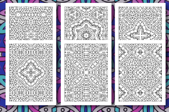 Print on Demand: 35 Geometric Pattern Coloring Pages Graphic Coloring Pages & Books Adults By JM_Graphics - Image 6