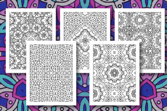 Print on Demand: 35 Geometric Pattern Coloring Pages Graphic Coloring Pages & Books Adults By JM_Graphics - Image 7