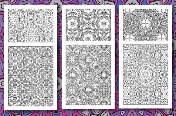 35 Geometric Pattern Coloring Set 2 Graphic Download