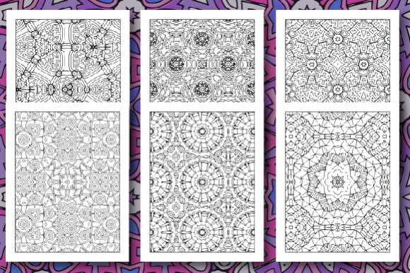35 Geometric Pattern Coloring Set 2 Graphic Item
