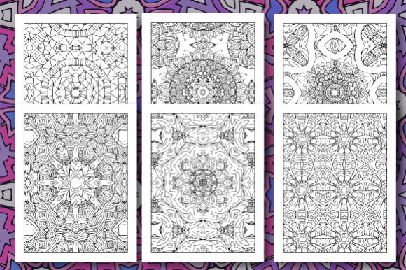 35 Geometric Pattern Coloring Set 2 Graphic Design