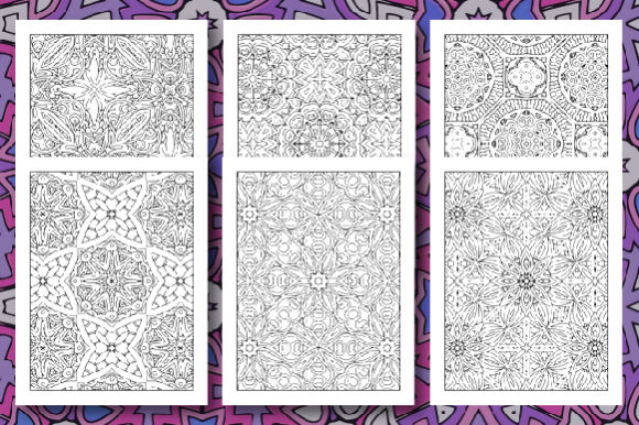 35 Geometric Pattern Coloring Set 2 Graphic Preview