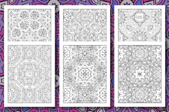 35 Geometric Pattern Coloring Set 2 Graphic Image