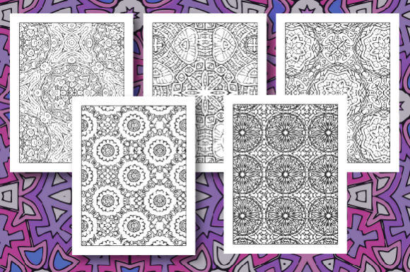 35 Geometric Pattern Coloring Set 2 Graphic Design Item