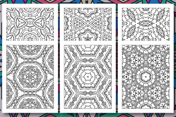 Print on Demand: 35 Geometric Pattern Coloring Set 3 Graphic Coloring Pages & Books Adults By JM_Graphics - Image 2