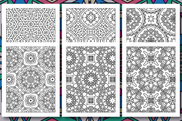 Print on Demand: 35 Geometric Pattern Coloring Set 3 Graphic Coloring Pages & Books Adults By JM_Graphics - Image 3