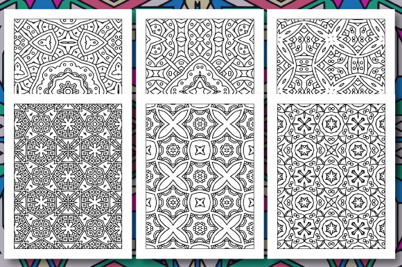 Print on Demand: 35 Geometric Pattern Coloring Set 3 Graphic Coloring Pages & Books Adults By JM_Graphics - Image 4