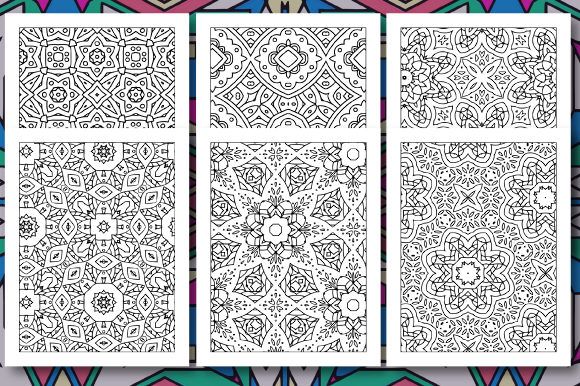 Print on Demand: 35 Geometric Pattern Coloring Set 3 Graphic Coloring Pages & Books Adults By JM_Graphics - Image 5