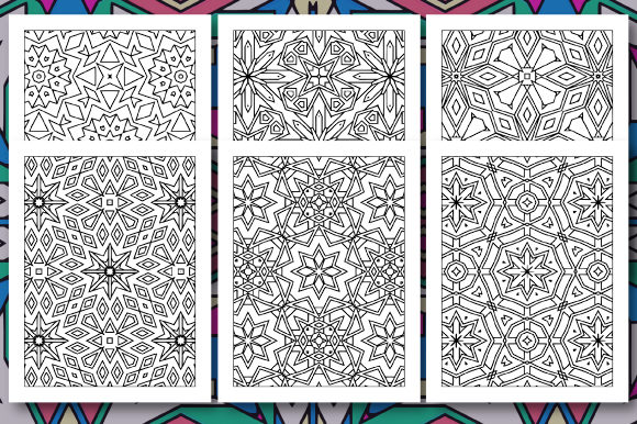 Print on Demand: 35 Geometric Pattern Coloring Set 3 Graphic Coloring Pages & Books Adults By JM_Graphics - Image 6