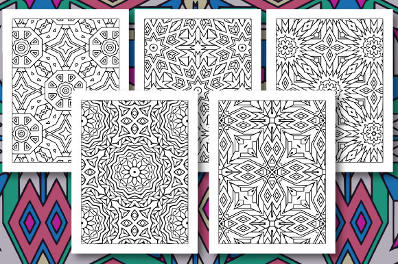 Print on Demand: 35 Geometric Pattern Coloring Set 3 Graphic Coloring Pages & Books Adults By JM_Graphics - Image 7