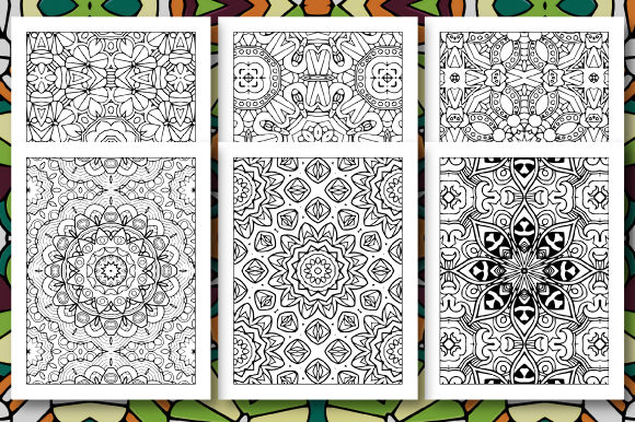 Print on Demand: 35 Geometric Pattern Coloring Set 4 Graphic Coloring Pages & Books Adults By JM_Graphics - Image 2