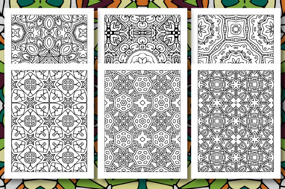 Print on Demand: 35 Geometric Pattern Coloring Set 4 Graphic Coloring Pages & Books Adults By JM_Graphics - Image 3