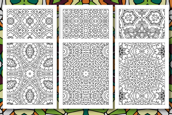 Print on Demand: 35 Geometric Pattern Coloring Set 4 Graphic Coloring Pages & Books Adults By JM_Graphics - Image 4