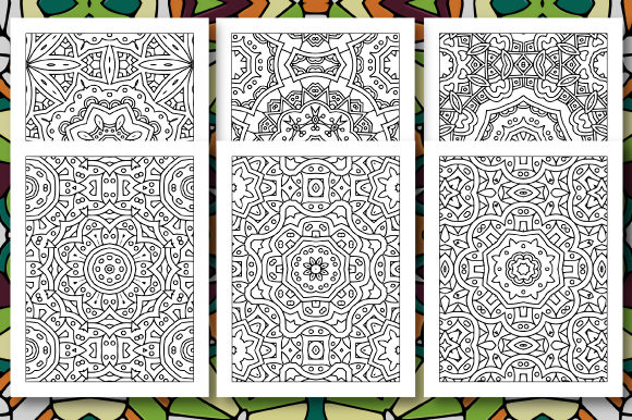Print on Demand: 35 Geometric Pattern Coloring Set 4 Graphic Coloring Pages & Books Adults By JM_Graphics - Image 5