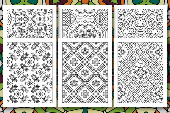Print on Demand: 35 Geometric Pattern Coloring Set 4 Graphic Coloring Pages & Books Adults By JM_Graphics - Image 6