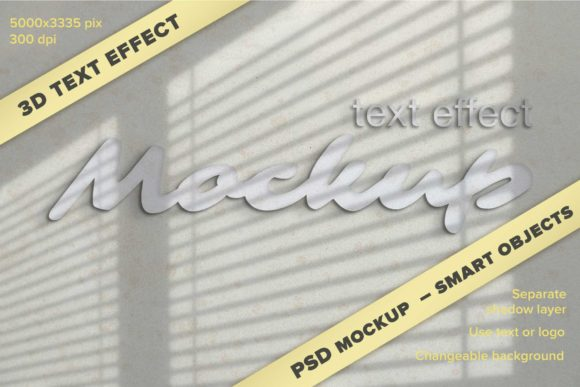Print on Demand: 3D Logo or Text Effect Mockup Graphic Product Mockups By z.zajka