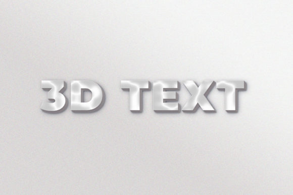3D Text Effect Vol 1 Graphic Layer Styles By Evloxx