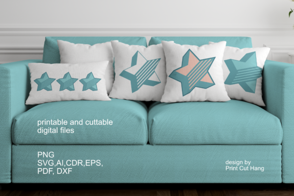 Download Free 3d Layered Star Design Graphic By Print Cut Hang Creative Fabrica for Cricut Explore, Silhouette and other cutting machines.