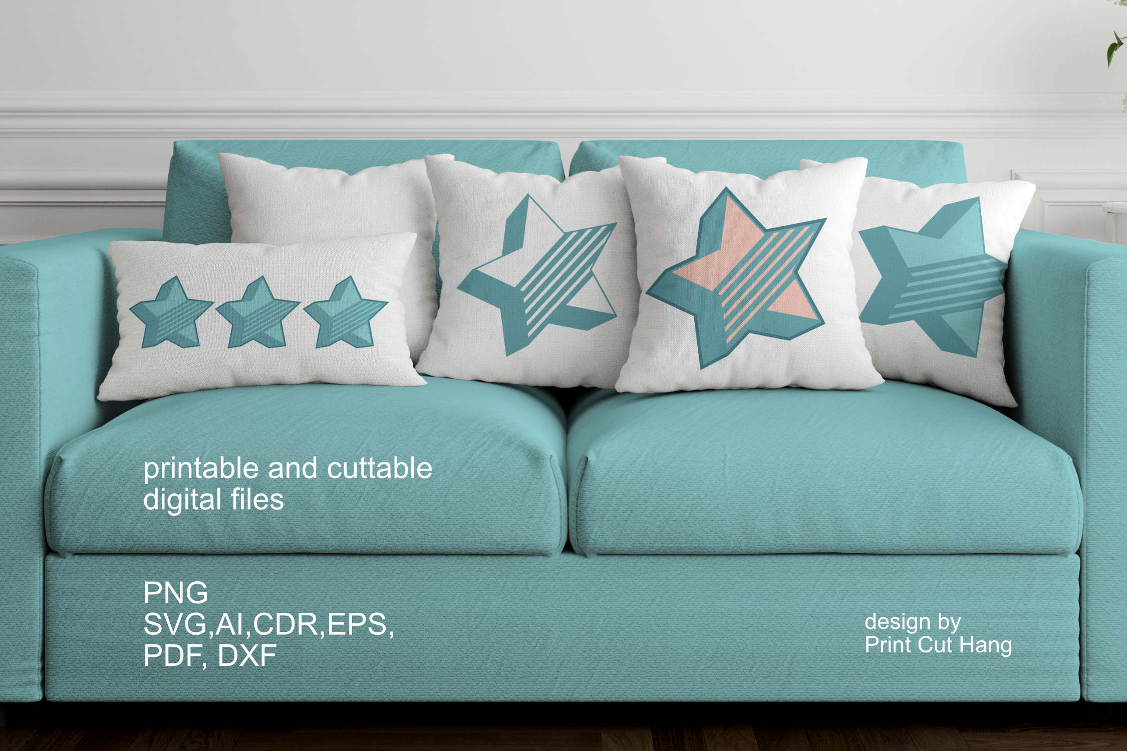 3d Layered Star Design Graphic By Print Cut Hang Creative Fabrica