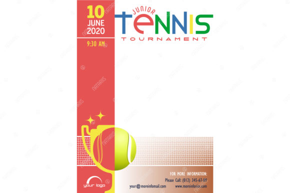 5 Tennis Tournament Posters Templates. Graphic Illustrations By Natariis Studio