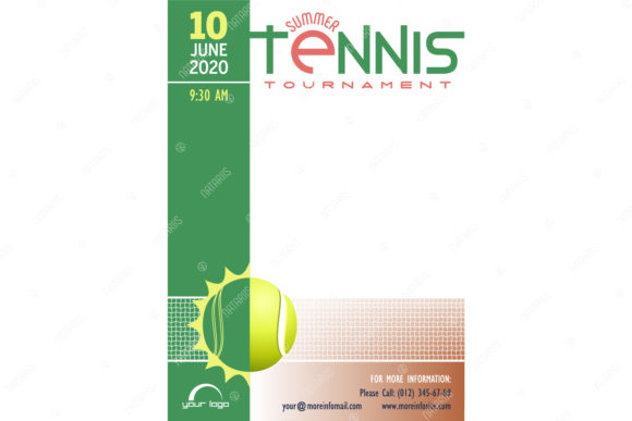 Download Free 5 Tennis Tournament Posters Templates Graphic By Natariis for Cricut Explore, Silhouette and other cutting machines.