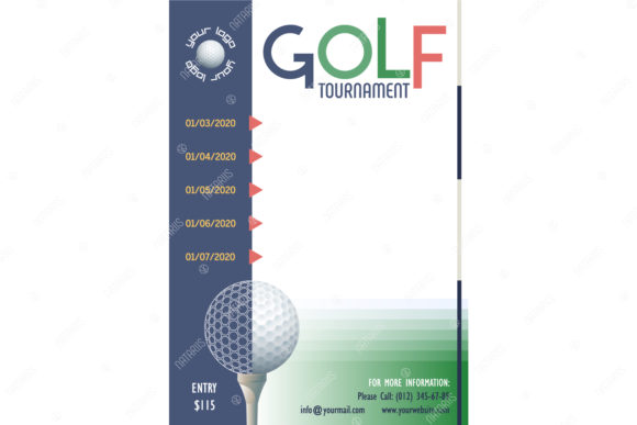 Download Free 7 Golf Tournament Posters Templates Graphic By Natariis Studio for Cricut Explore, Silhouette and other cutting machines.