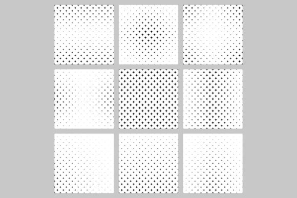 9 Monochrome Patterns Grafik Muster von davidzydd
