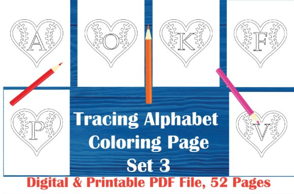 Alphabet Coloring Book Set 3 - Baseball Graphic Coloring Pages & Books Kids By MidasStudio