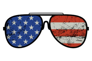 Print on Demand: American Flag Sunglasses 4th of July Graphic Logos By SunandMoon