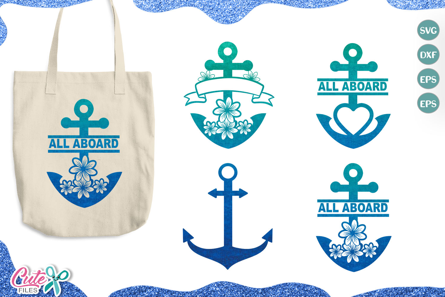 Download Free Anchor Monogran Frames Graphic By Cute Files Creative Fabrica for Cricut Explore, Silhouette and other cutting machines.