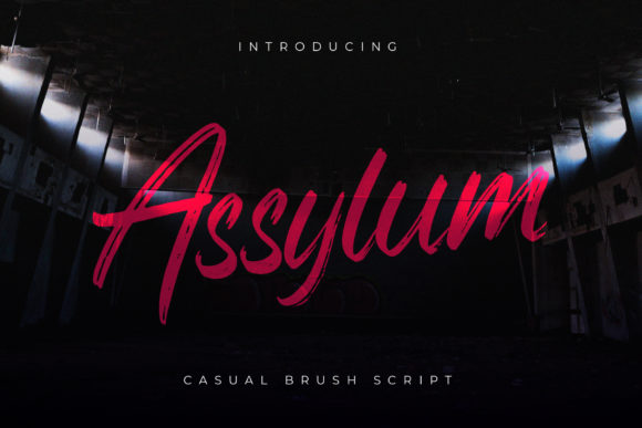 Print on Demand: Assylum Script & Handwritten Font By Goodware.Std