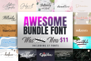 Download Free Awesome Font Bundle Bundle Creative Fabrica for Cricut Explore, Silhouette and other cutting machines.