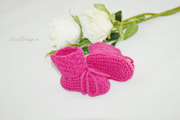 Baby Booties Knitting - Pearl Graphic Download