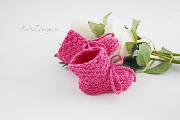 Baby Booties Knitting - Pearl Graphic Knitting Patterns By Kairi Mölder - Image 3
