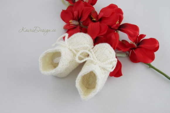 Baby Booties Knitting - Pearl Graphic Knitting Patterns By Kairi Mölder - Image 5