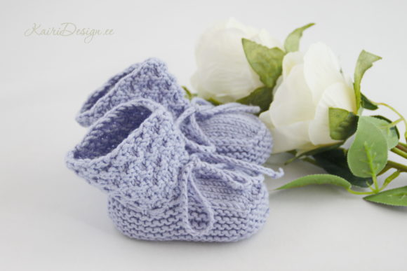 Baby Booties Knitting - Pearl Graphic Design Item