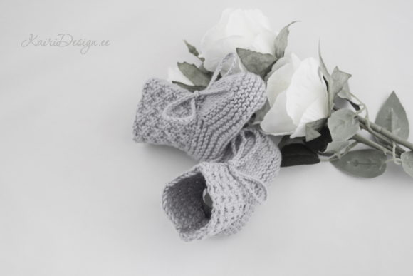 Baby Booties Knitting - Pearl Graphic Downloadable Digital File