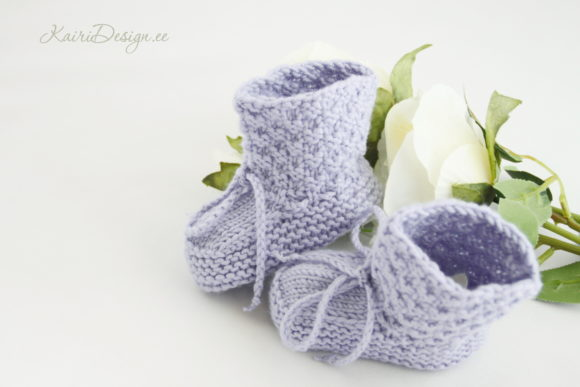 Baby Booties Knitting - Pearl Graphic Popular Design