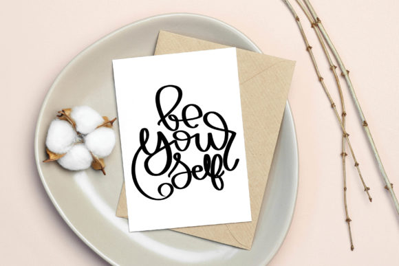 Download Free Be Yourself Digital Files Graphic By Meiimi Creative Fabrica for Cricut Explore, Silhouette and other cutting machines.