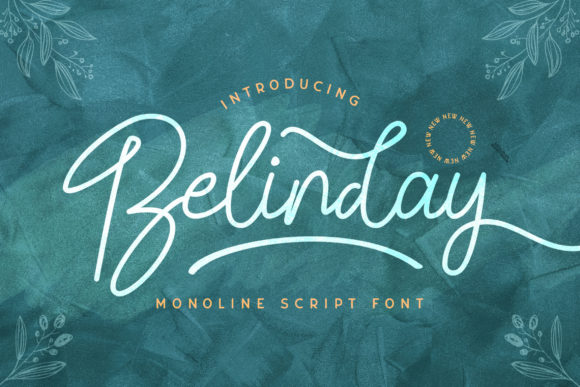 Download Free Belinday Font By Stringlabs Creative Fabrica for Cricut Explore, Silhouette and other cutting machines.