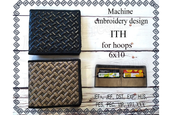 Download Free Billfold Machine Embroidery In The Hoop Wallet For Banknotes for Cricut Explore, Silhouette and other cutting machines.