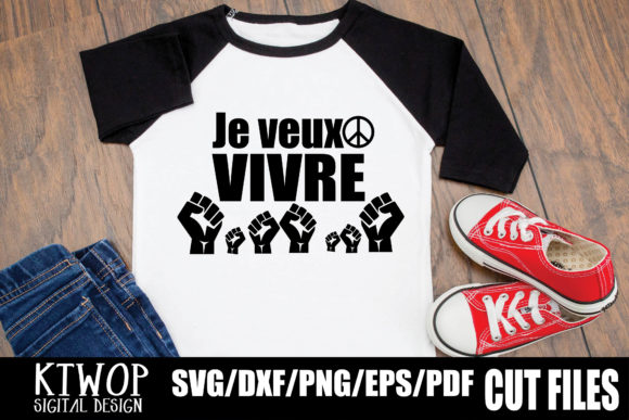 Download Free Je Veux Vivre Graphic By Ktwop Creative Fabrica for Cricut Explore, Silhouette and other cutting machines.