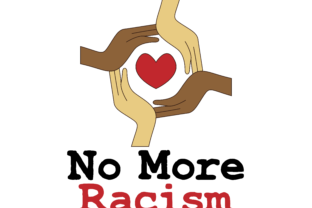 Download Free Black Lives Matter No More Racism Circle Graphic By Studioisamu for Cricut Explore, Silhouette and other cutting machines.