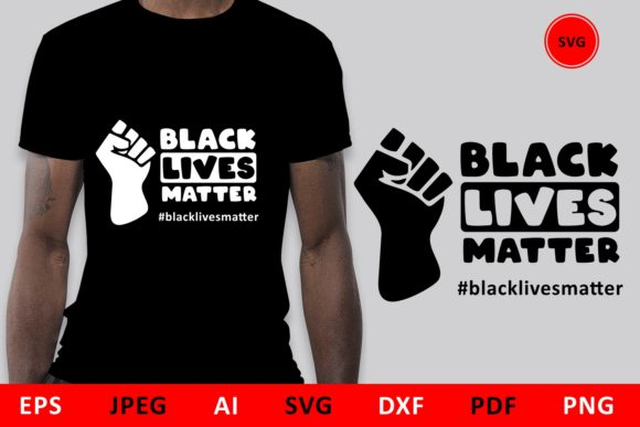 Download Free Black Lives Matter Quote Blm Graphic By Millerzoa Creative Fabrica for Cricut Explore, Silhouette and other cutting machines.