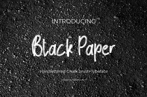 Print on Demand: Black Paper Script & Handwritten Font By iqbalfaizinm