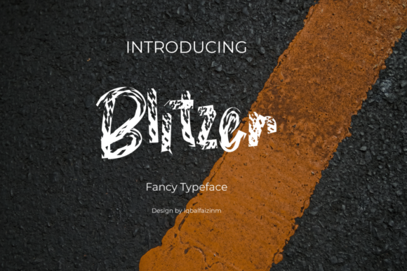 Print on Demand: Blitzer Display Font By iqbalfaizinm